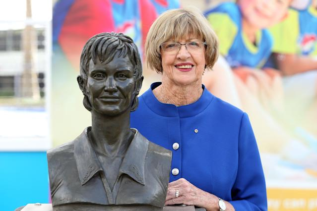 Squaring Margaret Court, the tennis legend, against Margaret Court, the person, is a tall task for Tennis Australia. (Photo by Graham Denholm/Getty Images)
