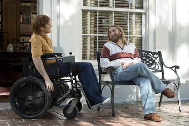 Joaquin Phoenix and Jonah Hill in <i>Don't Worry, He Won't Get Far On Foot</i> (Amazon Studios)