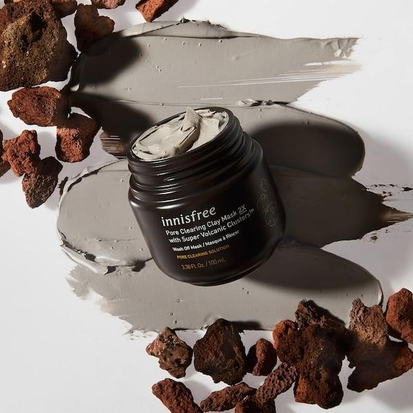 <p>Battle maskne with the <span>Innisfree Super Volcanic Clusters Pore Clearing Clay Mask</span> ($15).</p>