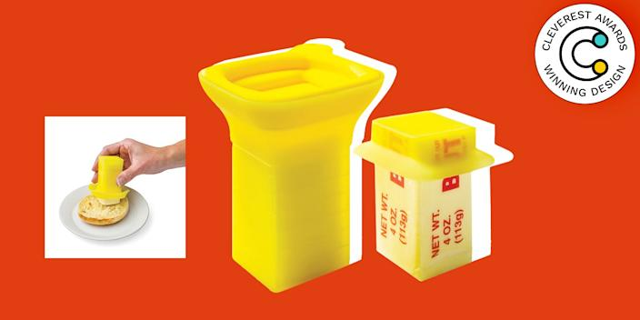 Butter Easy by Debra Matt Stop trying to convince yourself that scrunching the paper wrapper around a half-stick of butter is an OK storage technique. The three-part silicone Butter Easy includes a proper airtight cover for that unused segment, plus a sealable sleeve for easily dispensing the portion the recipe calls for. $6, store.moma.org