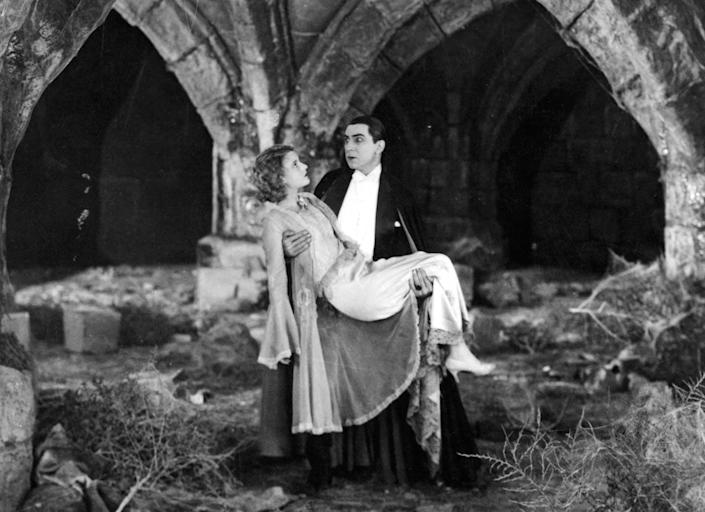 """<span class=""""caption"""">Modern vampires like Dracula may be dashing, but they certainly weren't in the original vampire myths.</span> <span class=""""attribution""""><a class=""""link rapid-noclick-resp"""" href=""""https://www.gettyimages.com/detail/news-photo/helen-chandler-is-carried-by-bela-lugosi-in-a-scene-from-news-photo/159821076"""" rel=""""nofollow noopener"""" target=""""_blank"""" data-ylk=""""slk:Archive Photos/ Moviepix via Getty Images"""">Archive Photos/ Moviepix via Getty Images</a></span>"""