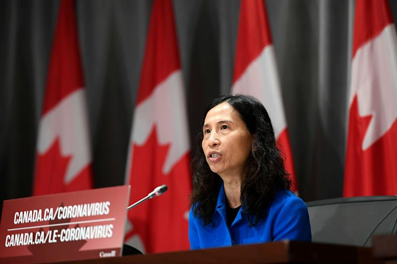 Dr. Theresa Tam participates in a news conference on the COVID-19 pandemic in Ottawa, on June 2, 2020. (Photo: Justin Tang/THE CANADIAN PRESS)