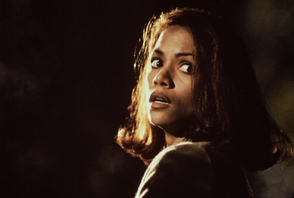 Halle in the film looking scared
