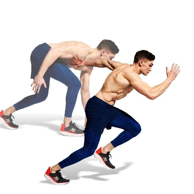 <p>Maintain maximum speed, keeping your torso upright and your shoulders back, while driving off hard from the middle of your foot on each stride. Ensure your breathing is rhythmic and controlled to avoid burning out: in through the nose, out through the mouth. Cover 80m, keeping pace until you cross the line.</p>