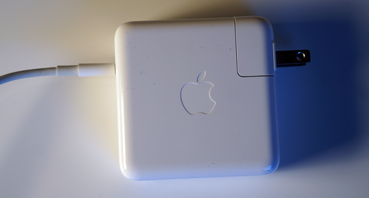 The new, stripped-down Apple power brick.