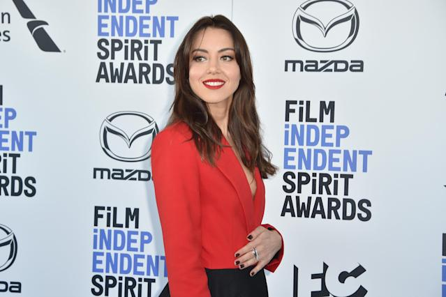 Aubrey Plaza attends the Independent Spirit Awards on February 08, 2020. (Photo by David Crotty/Patrick McMullan via Getty Images)