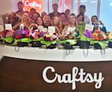 """The Swift fans at the office of Craftsy, a Denver crafting website, were <a href=""""https://people.com/music/taylor-swift-denver-post-it-note-supporters-floral-bouquets/"""" rel=""""nofollow noopener"""" target=""""_blank"""" data-ylk=""""slk:gifted a bunch of bright bouquets"""" class=""""link rapid-noclick-resp"""">gifted a bunch of bright bouquets</a> from the singer <a href=""""http://people.com/music/taylor-swift-denver-post-it-note-supporters-floral-bouquets/"""" rel=""""nofollow noopener"""" target=""""_blank"""" data-ylk=""""slk:following her sexual assault trial"""" class=""""link rapid-noclick-resp"""">following her sexual assault trial</a> in August 2017. During the trial, Craftsy's staff publicly supported Swift by arranging Post-It notes in their office windows reflecting Swift's own lyrics back at her in a show of solidarity. """"Supporting creative individuals is what we're all about,"""" read the company's Instagram, captioning more than a handful of bouquets. """"@taylorswift we're glad that our window messages brightened your days in Denver just as the flowers you sent are brightening ours!"""""""
