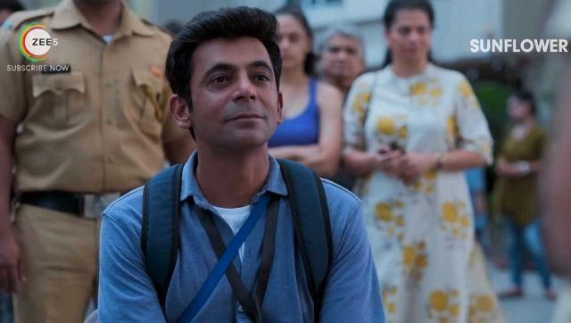 Sunil Grover in a still from Sunflower. Image from YouTube