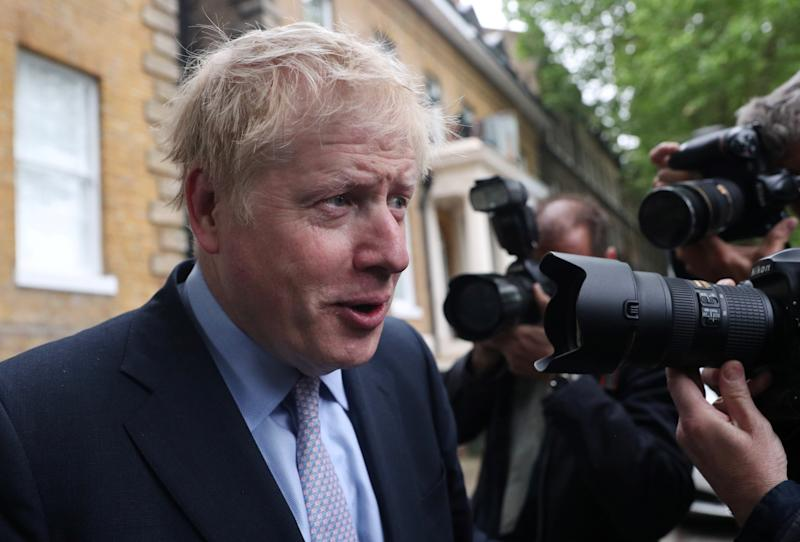 Conservative Party leadership candidate Boris Johnson leaves his home in London, Britain June 12, 2019. REUTERS/Hannah McKay
