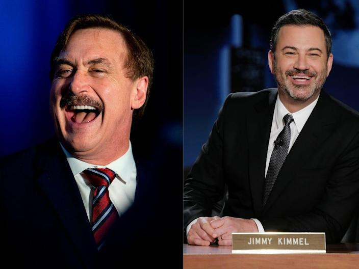 Mike Lindell and Jimmy Kimmel