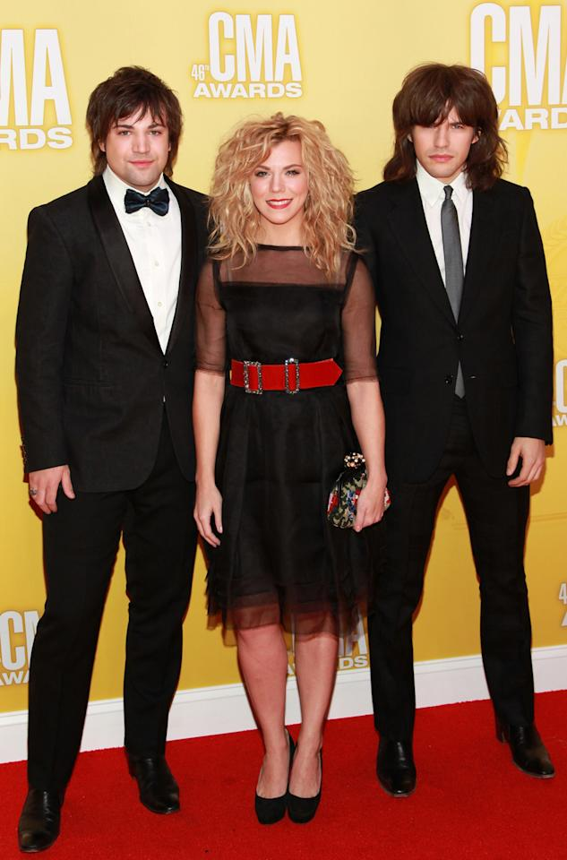 "<p class=""MsoNormal"">A full head of hair clearly is a dominant gene in the Perry family. The Band Perry – (L-R) Neil, Kimberly, and Reid – let their manes take center stage on the red carpet. The ""If I Die Young"" singers, who are up for Vocal Group of the Year, plan to release their second album in the spring. ""There are elements of the first album that you'll feel in this, but I feel like our melodies and everything about this is fresh, and I hope that people will just dig them,"" drummer Neil told omg!. (11/1/2012)</p>"
