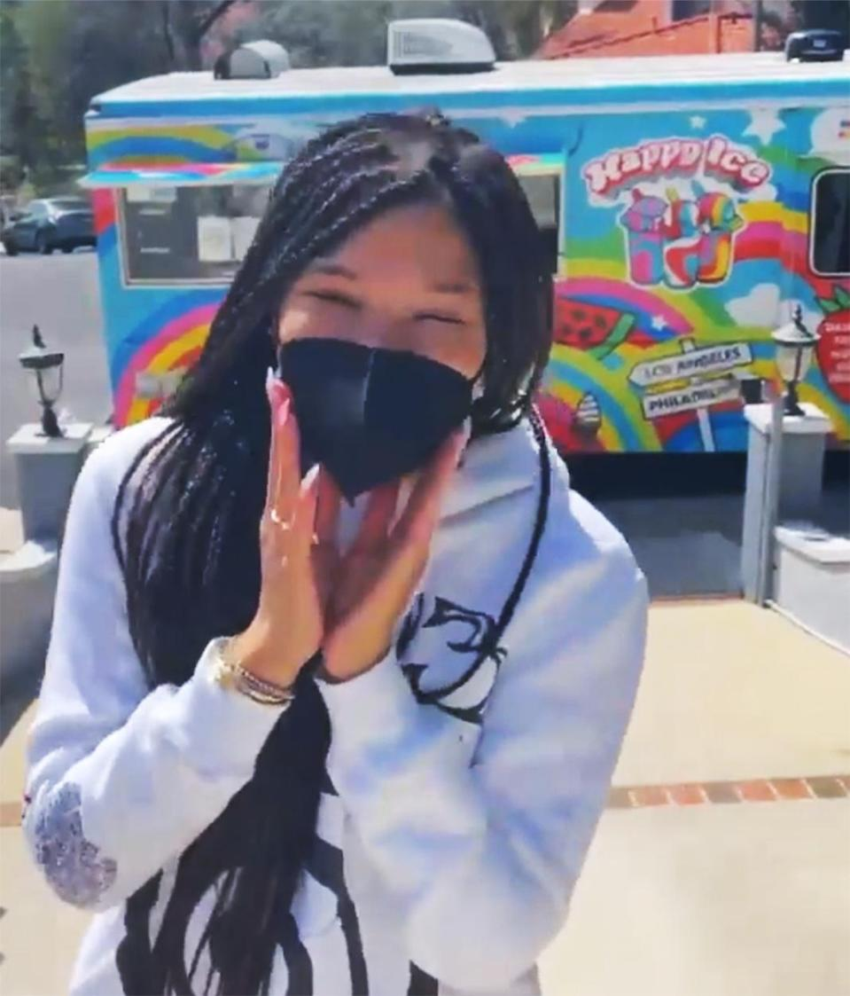 "<p>To celebrate Jennifer Garner's new family comedy, <em>Yes Day</em>, Storm Reid partners with Netflix to donate to Black and Latinx-owned ice cream shops (hers, Happy Ice in L.A.) and give free ice cream to customers on ""Yes Day Sundae.""</p>"