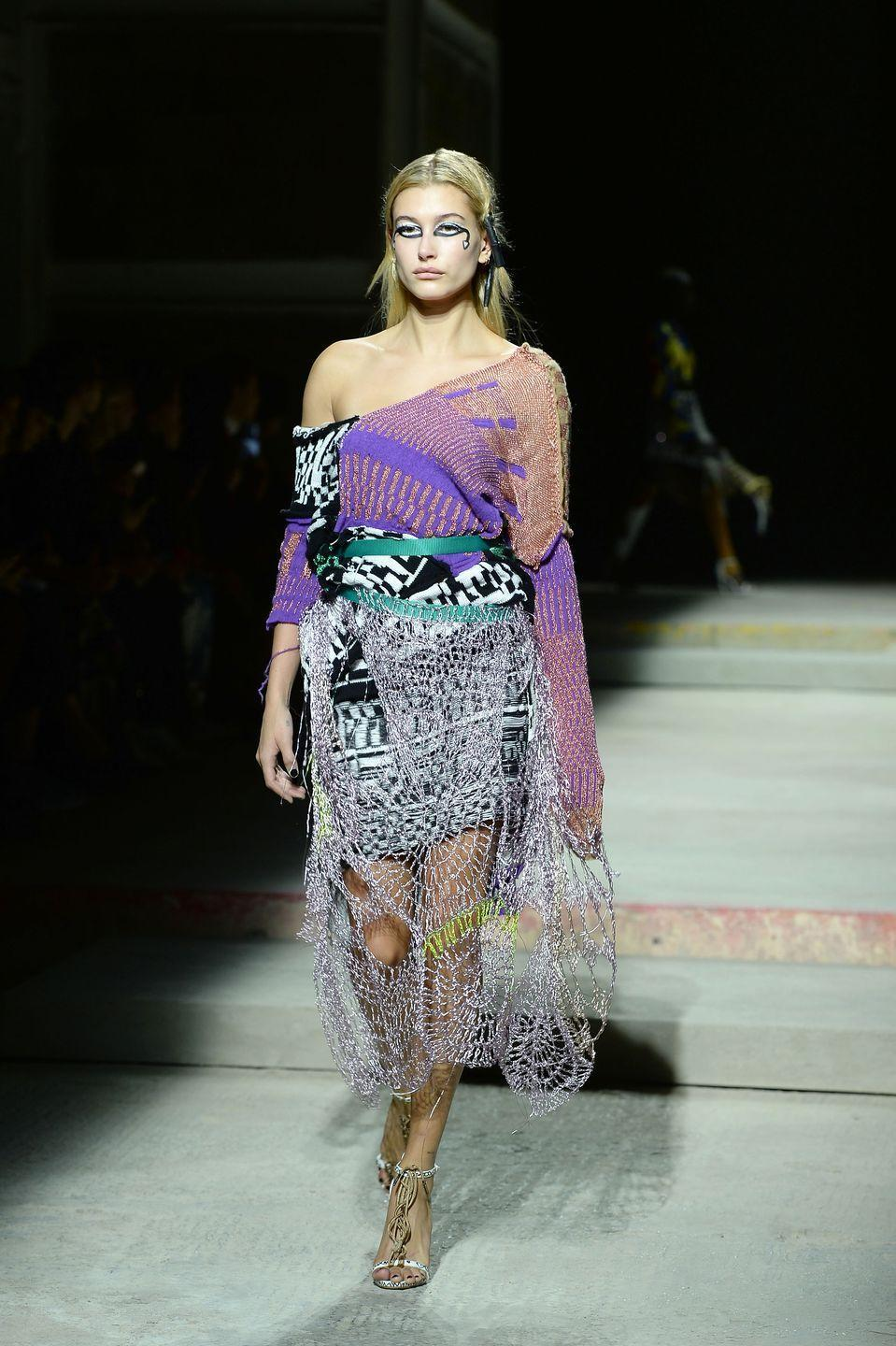 <p>Hailey hit the runway for Fashion East, during the London Fashion Week SS18 season</p>