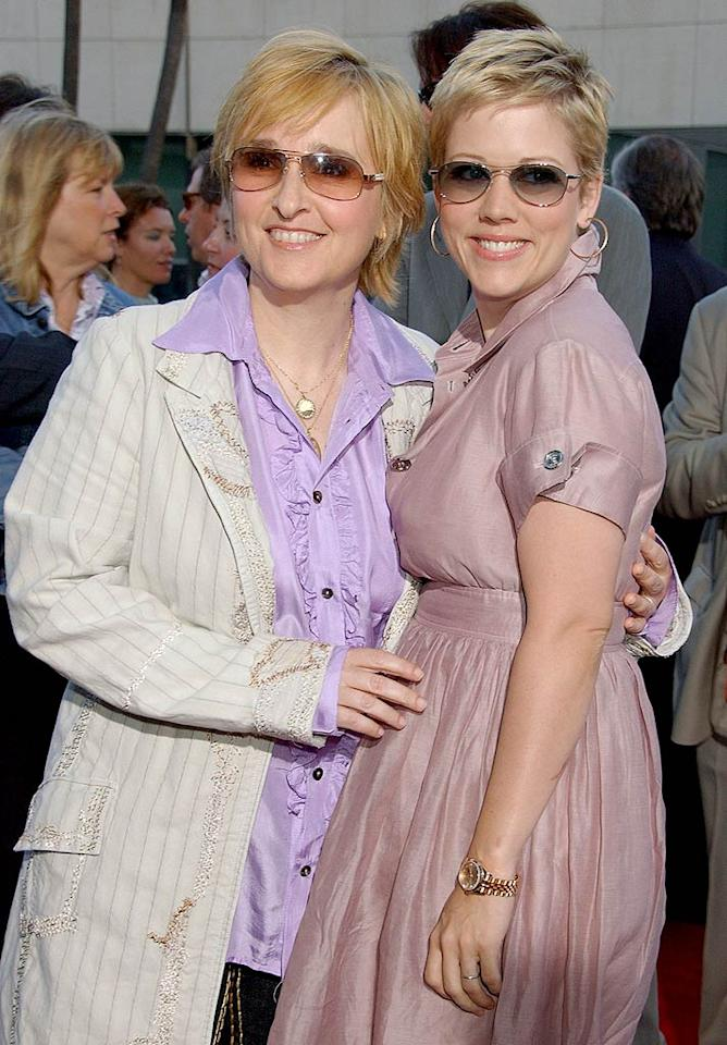 "Singer Melissa Etheridge and Tammy Lynn Michaels have stayed together through the good times (the birth of a son, Miller, in 2006) and bad (Melissa's breast cancer battle). Gregg DeGuire/<a href=""http://www.wireimage.com"" target=""new"">WireImage.com</a> - June 26, 2007"