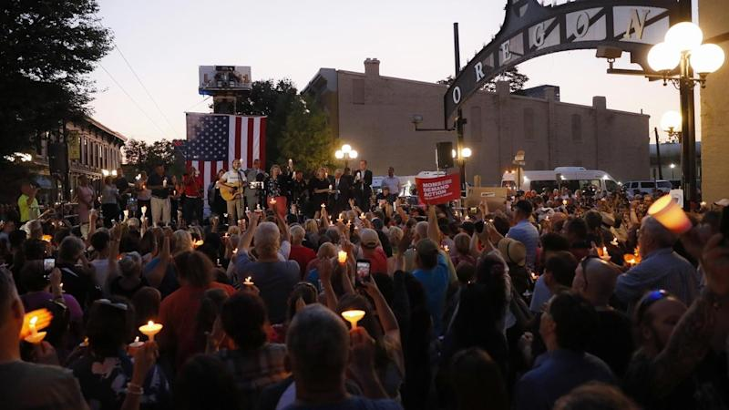 President Donald Trump has condemned white supremacy following two mass shootings that killed 29