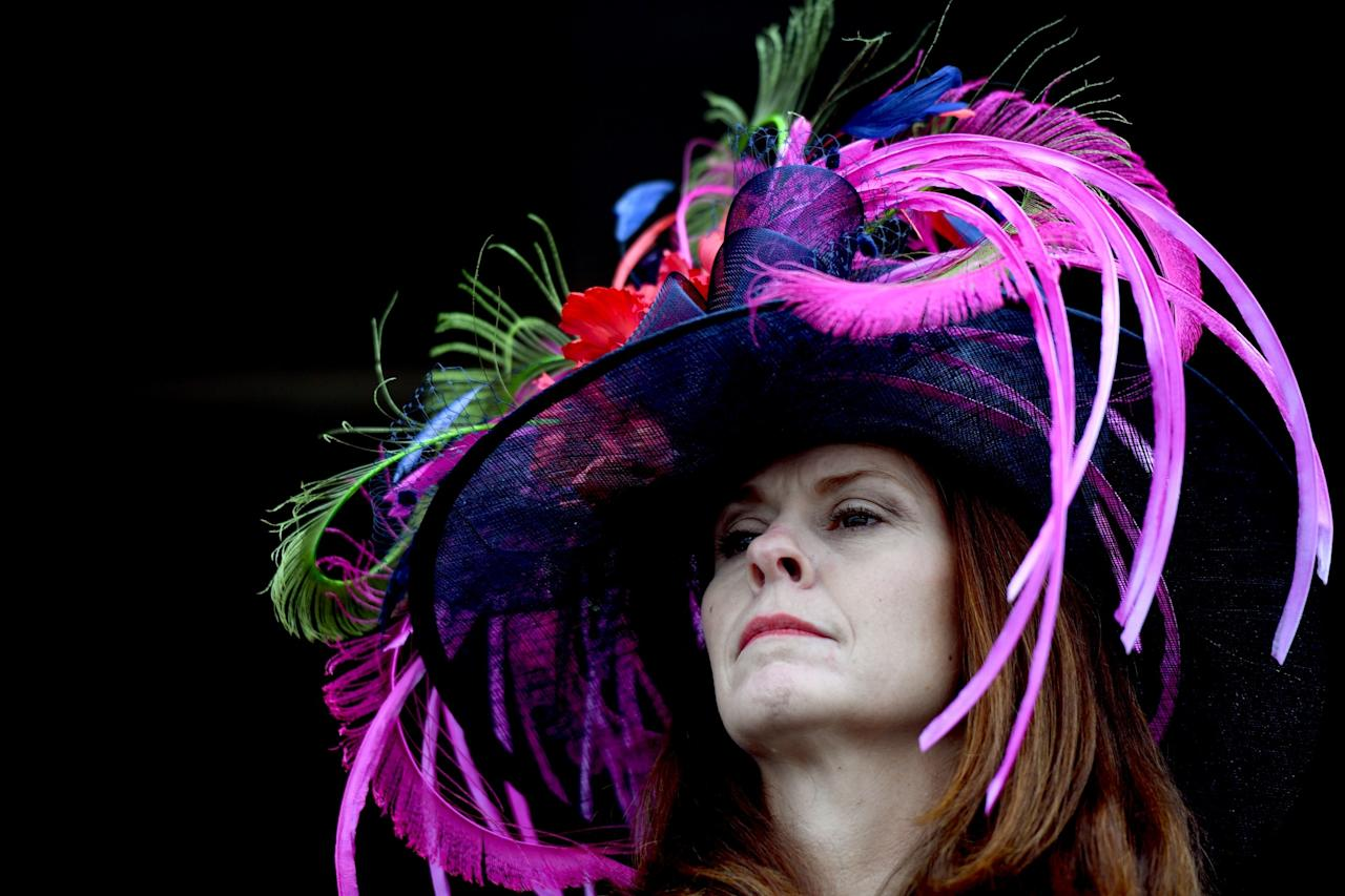 <p>Bright colors are de rigueur on Derby Day. (Photo: Getty Images) </p>