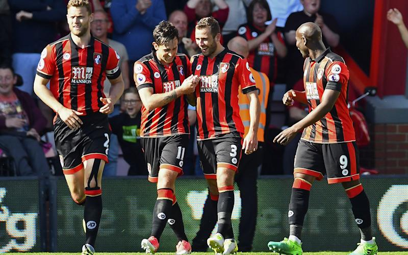 Bournemouth enjoyed their day in the sun on Saturday as they thumped Boro 4-0 - Rex Features