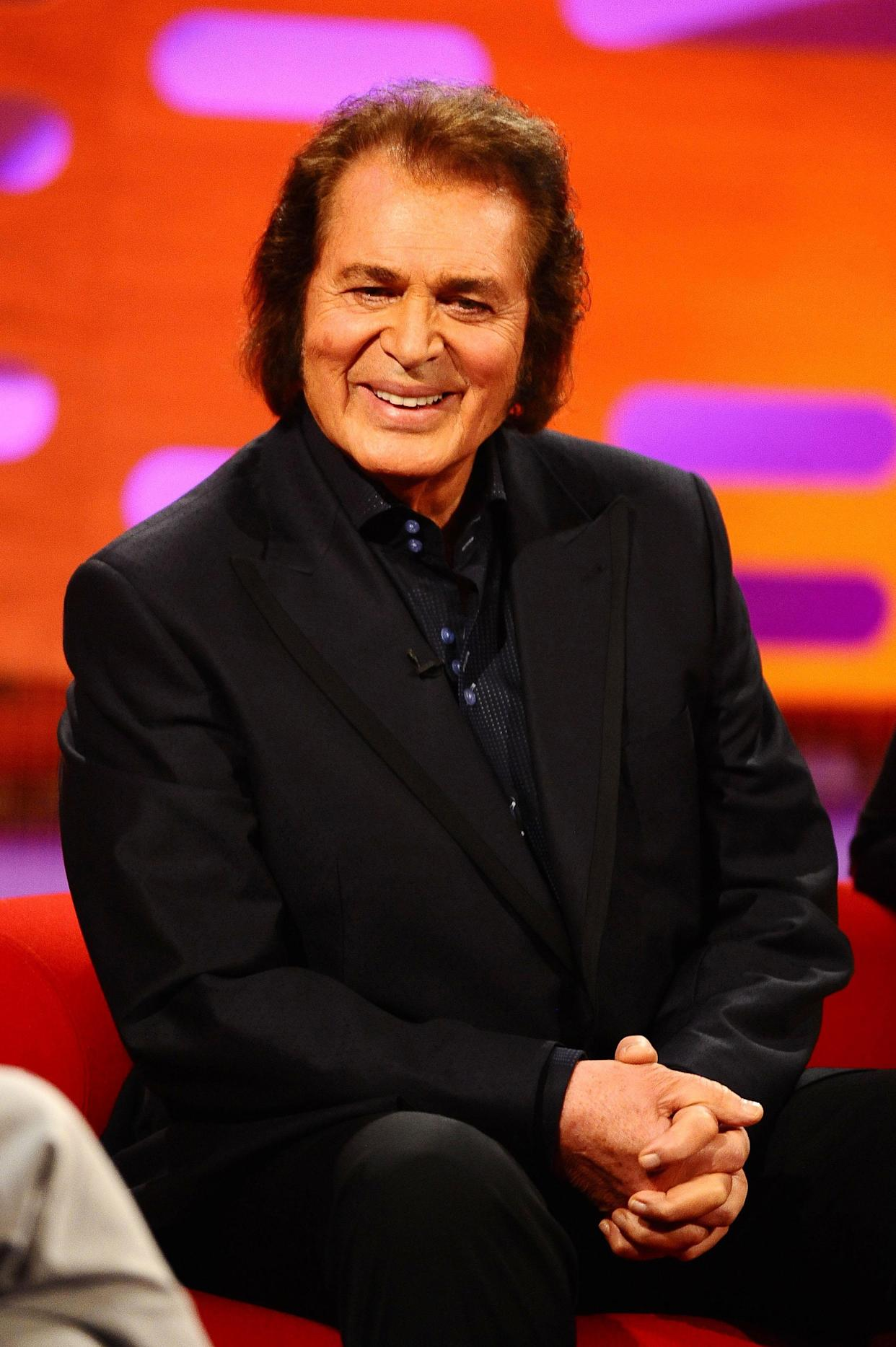 Engelbert Humperdinck during the filming for this week's edition of The Graham Norton Show, at the London Studios in London.