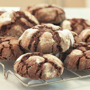 """Mmm, chocolate cracks! Here's another recipe that's simple but delicious. Some cookies are classics for a reason. Learn how to create them at <a href=""""http://www.williams-sonoma.com/recipe/chocolate-crinkle-cookies.html"""" target=""""_blank"""">Williams Sonoma</a>."""