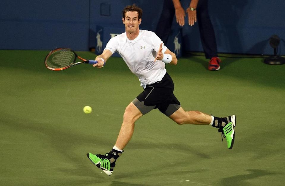 Andy Murray during his US Open match against Kevin Anderson in New York on September 7, 2015 (AFP Photo/Jewel Samad)