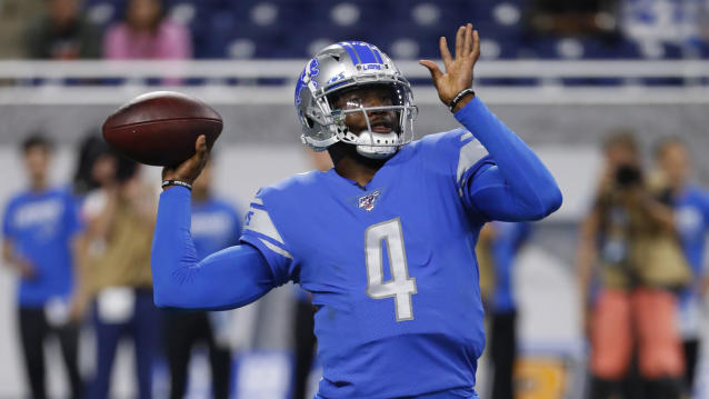 The Lions were blocked from a reunion with Josh Johnson. (AP Photo/Rick Osentoski)