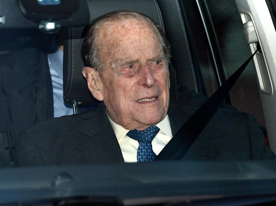 The Duke of Edinburgh leaving the Queen's Christmas lunch at Buckingham Palace in December 2018 [Photo: PA]