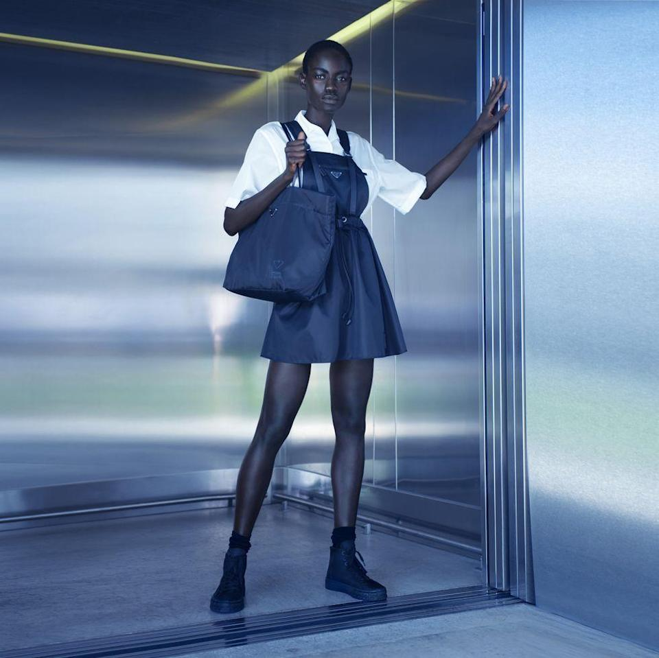 """<p>Luxury Italian brand, <a href=""""https://www.prada.com/gb/en.html"""" rel=""""nofollow noopener"""" target=""""_blank"""" data-ylk=""""slk:Prada"""" class=""""link rapid-noclick-resp"""">Prada</a>, has launched Re-Nylon, a sustainable line of bags and accessories made of recycled plastic collected from oceans and fishing nets, as well as discarded fabrics.<br><br>You can see and buy the collection for the first time in The Corner Shop, a pop-up space in department store <a href=""""https://go.redirectingat.com?id=127X1599956&url=https%3A%2F%2Fwww.selfridges.com%2FGB%2Fen%2F&sref=https%3A%2F%2Fwww.elle.com%2Fuk%2Ffashion%2Fwhat-to-wear%2Fg22788319%2Fsustainable-fashion-brands-to-buy-from-now%2F"""" rel=""""nofollow noopener"""" target=""""_blank"""" data-ylk=""""slk:Selfridges"""" class=""""link rapid-noclick-resp"""">Selfridges</a>, which kicks off the renowned retailer's Project Earth - an initiative spotlighting brands and practices that put the environment first.</p><p>The launch marks both Selfridges and Prada's commitment to sustainability, and is available to buy exclusively <a href=""""https://go.redirectingat.com?id=127X1599956&url=https%3A%2F%2Fwww.selfridges.com%2FGB%2Fen%2Ffeatures%2Farticles%2Fcorner-shop%2F&sref=https%3A%2F%2Fwww.elle.com%2Fuk%2Ffashion%2Fwhat-to-wear%2Fg22788319%2Fsustainable-fashion-brands-to-buy-from-now%2F"""" rel=""""nofollow noopener"""" target=""""_blank"""" data-ylk=""""slk:in-store"""" class=""""link rapid-noclick-resp"""">in-store</a>, launching globally on Prada.com in mid-September.<br><br><a class=""""link rapid-noclick-resp"""" href=""""https://go.redirectingat.com?id=127X1599956&url=https%3A%2F%2Fwww.selfridges.com%2FGB%2Fen%2Ffeatures%2Farticles%2Fcorner-shop%2F&sref=https%3A%2F%2Fwww.elle.com%2Fuk%2Ffashion%2Fwhat-to-wear%2Fg22788319%2Fsustainable-fashion-brands-to-buy-from-now%2F"""" rel=""""nofollow noopener"""" target=""""_blank"""" data-ylk=""""slk:SHOP NOW"""">SHOP NOW</a></p>"""