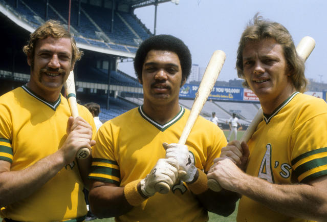 Reggie Jackson's Swingin' A's remain a fan-favorite to this day. (Photo by Focus on Sport/Getty Images)