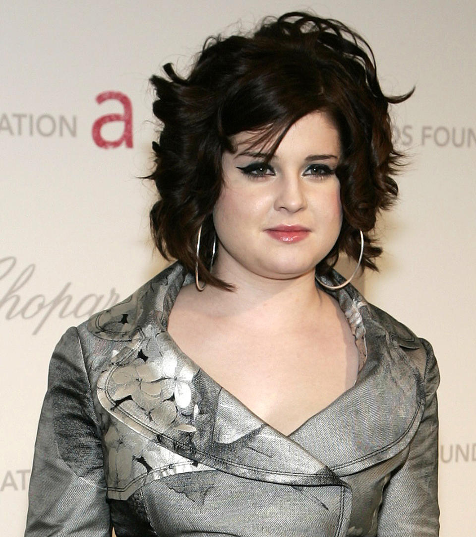 Kelly Osbourne, daughter of musician Ozzy Osbourne, attends the 2007 Elton John AIDS Foundation Oscar Party at the Pacific Design Center in West Hollywood February 25, 2007. REUTERS/Gene Blevins (UNITED STATES)