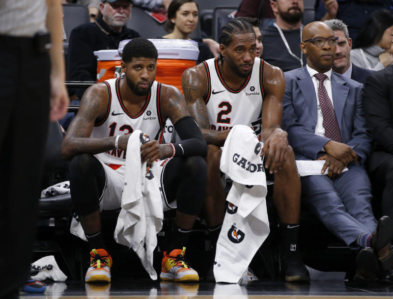 Some inside the Clippers locker room are apparently not too happy with Kawhi Leonard and Paul George.