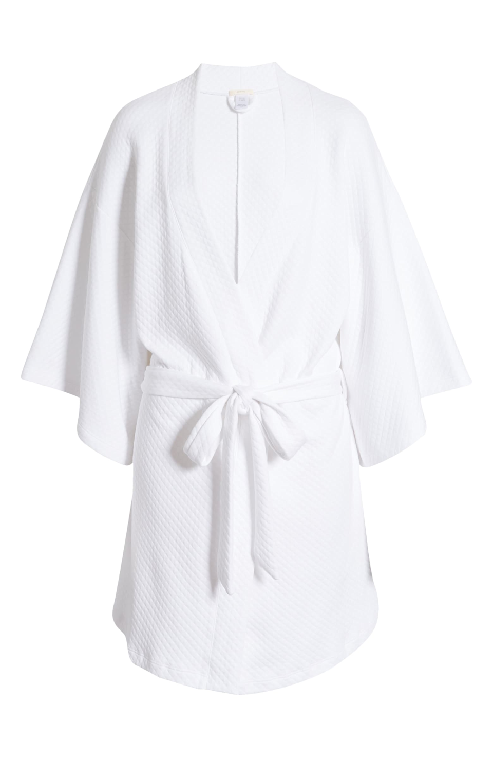 """<h3><a href=""""https://www.nordstrom.com/s/eberjey-zen-short-spa-robe/5607214"""" rel=""""nofollow noopener"""" target=""""_blank"""" data-ylk=""""slk:Eberjey Zen Short Spa Robe"""" class=""""link rapid-noclick-resp"""">Eberjey Zen Short Spa Robe</a></h3><br>This simple waffle-style robe gets a sexier modern twist with its short length and wide-cut sleeves — and, as one pleased lounger put it, """"I love it! Perfect for quarantining in comfort and a little luxurious treat to make your day better.""""<br><br><strong>Eberjey</strong> Zen Short Spa Robe, $, available at <a href=""""https://go.skimresources.com/?id=30283X879131&url=https%3A%2F%2Fwww.nordstrom.com%2Fs%2Feberjey-zen-short-spa-robe%2F5607214"""" rel=""""nofollow noopener"""" target=""""_blank"""" data-ylk=""""slk:Nordstrom"""" class=""""link rapid-noclick-resp"""">Nordstrom</a>"""