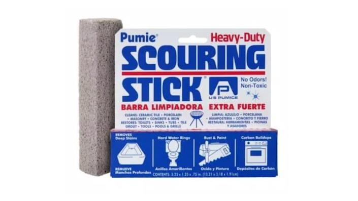 Even the worst stains won't stand up to this scouring stick.