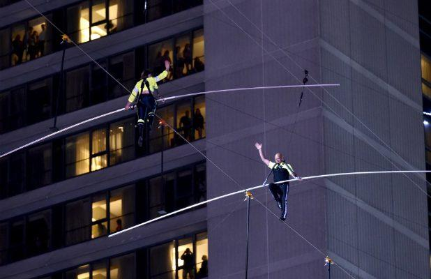Nik Wallenda and Sister Lijana Successfully Complete 'Highwire Live' Tightrope Walk Above Times Square