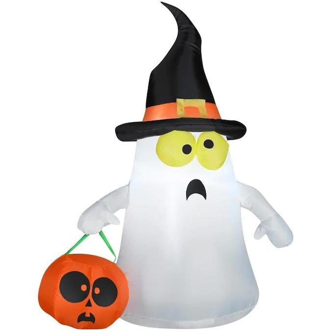 inflatable ghost, scary halloween decorations