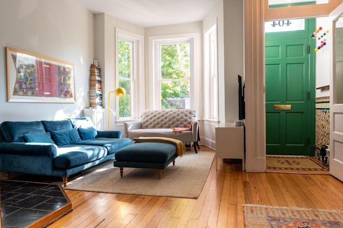 "Another option for small families, this Capitol Hill townhouse is especially nice for first-timers, with plenty to do just a short walk away, from the Library of Congress to <a href=""https://www.cntraveler.com/shops/washington/eastern-market?mbid=synd_yahoo_rss"" rel=""nofollow noopener"" target=""_blank"" data-ylk=""slk:Eastern Market"" class=""link rapid-noclick-resp"">Eastern Market</a>'s food stalls. Bike share stations (or the metro) will get you to the monuments and <a href=""https://www.cntraveler.com/gallery/best-museums-in-washington-dc?mbid=synd_yahoo_rss"" rel=""nofollow noopener"" target=""_blank"" data-ylk=""slk:museums"" class=""link rapid-noclick-resp"">museums</a> on <a href=""https://www.cntraveler.com/activities/washington/washington-d-c/national-mall?mbid=synd_yahoo_rss"" rel=""nofollow noopener"" target=""_blank"" data-ylk=""slk:the National Mall"" class=""link rapid-noclick-resp"">the National Mall</a>, and Nationals Park is a short Lyft ride away, should you want to catch a ball game. You'll be prepared for nights in, too: The home has Sonos speakers in the living room and kitchen, a large smart TV downstairs, a dining table to seat six, and a back patio with a couch, grill, and outdoor speakers. As for the sleeping arrangements, one room has a <a href=""https://cna.st/affiliate-link/372k3dFnGNnsakKFitAVxaWFMVAwLcVLCaPdP6iMxFLmK9DbmAM23Tsh9ZXBmctLz7hfkzRRE1RthfZBU?cid=60415e8d676d0f0ac6c7ce2c"" rel=""nofollow noopener"" target=""_blank"" data-ylk=""slk:Tuft & Needle"" class=""link rapid-noclick-resp"">Tuft & Needle</a> king-sized bed, while the second, more colorful one has a set of bunk beds, plus kids' books and guitars they can strum on. $133, Airbnb (Starting price). <a href=""https://www.airbnb.com/rooms/45648413"" rel=""nofollow noopener"" target=""_blank"" data-ylk=""slk:Get it now!"" class=""link rapid-noclick-resp"">Get it now!</a>"