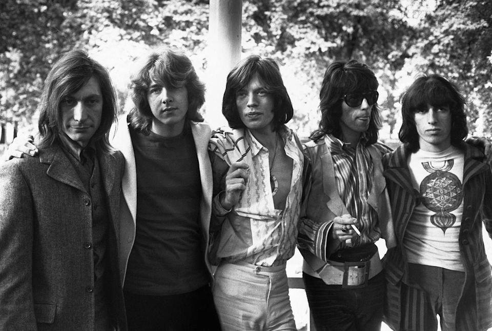 <p>The Rolling Stones with new member Mick Taylor in 1969.</p>