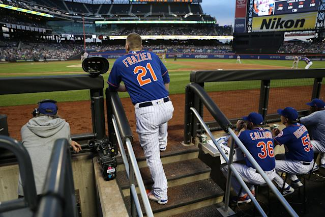 Todd Frazier recorded an out on a wild and bad play Thursday that sums up how the Mets and Nationals are playing this season. (Getty Images)
