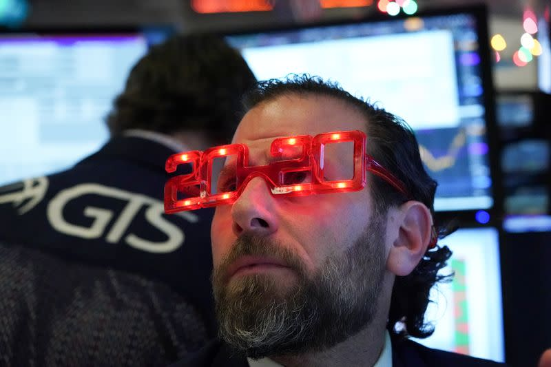 Wall St. starts 2020 with new records on China stimulus, trade hopes