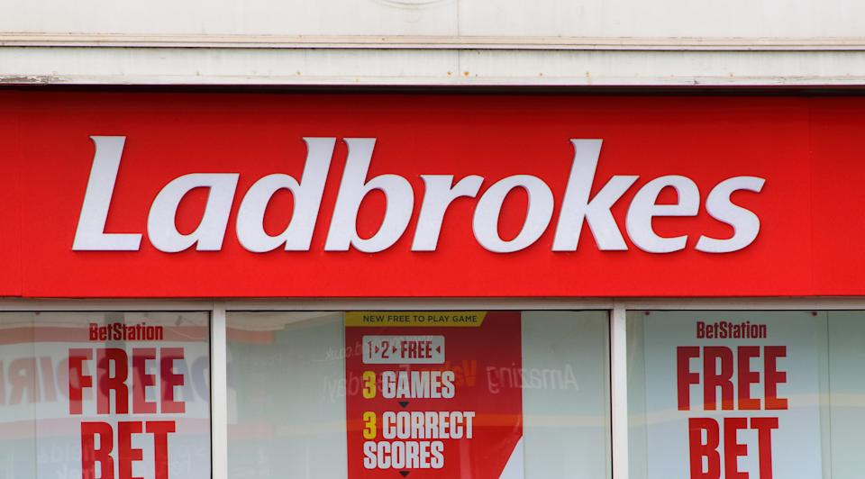PAIGNTON, DEVON, UNITED KINGDOM - 2019/08/10: Ladbrokes betting shop seen in Devon. (Photo by Keith Mayhew/SOPA Images/LightRocket via Getty Images)
