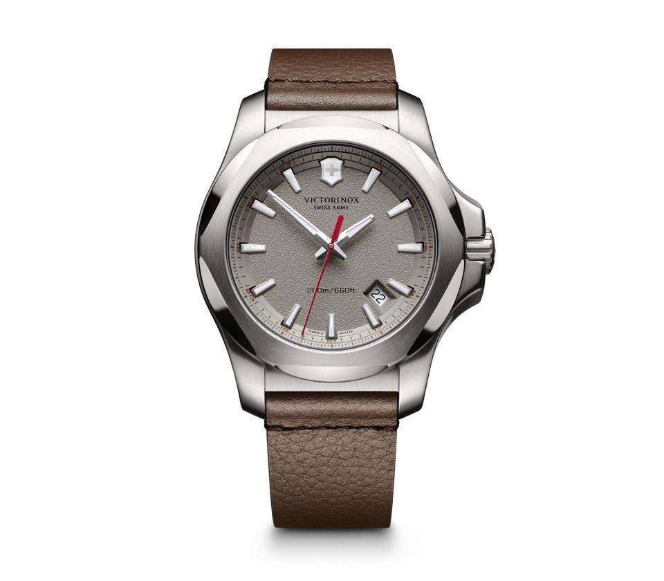 "<p>This I.N.O.X. watch may seem pricy, but it's a wardrobe staple dad will have for decades – and its scratch-resistant crystal will stand the test of time. <i>($575 <a href=""https://www.victorinox.com/ca/en/Products/Watches/I-N-O-X-/I-N-O-X-Leather/p/241738"" rel=""nofollow noopener"" target=""_blank"" data-ylk=""slk:via Victorinox"" class=""link rapid-noclick-resp"">via Victorinox</a>)</i></p>"