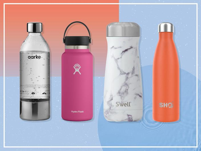 If your goal in 2021 is to drink more water, but you don't want to add to the plastic pollution problem, a reusable water bottle is an ideal solution (iStock/The Independent)
