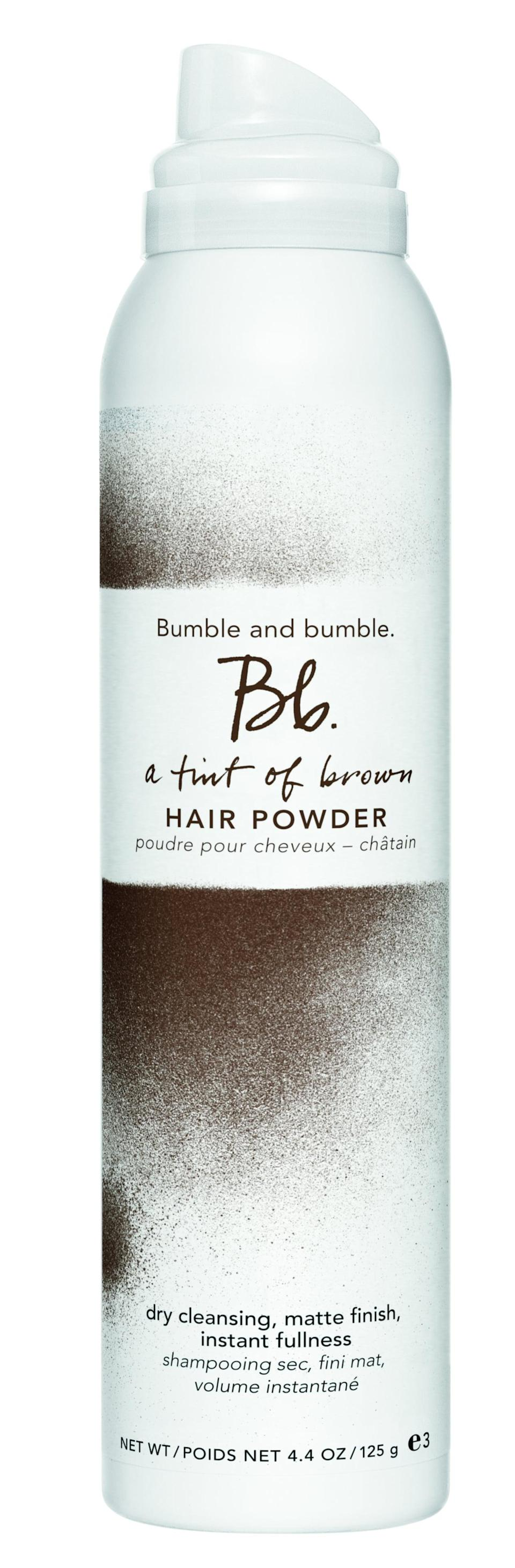 <p>Bumble &amp; Bumble was one of the first brands to get in on the dry shampoo game, and it's still one of the best, thanks to its light, powdery texture - and its <span>A Tint of Brown Hair Powder</span> ($36) is no exception. </p>