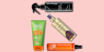 """<p><a href=""""https://www.goodhousekeeping.com/beauty/hair/a35085561/guide-to-hair-styling-techniques/"""" rel=""""nofollow noopener"""" target=""""_blank"""" data-ylk=""""slk:Heat tools for hair"""" class=""""link rapid-noclick-resp"""">Heat tools for hair</a>, like <a href=""""https://www.goodhousekeeping.com/beauty/hair/g4903/best-hair-straighteners/"""" rel=""""nofollow noopener"""" target=""""_blank"""" data-ylk=""""slk:straighteners"""" class=""""link rapid-noclick-resp"""">straighteners</a>, <a href=""""https://www.goodhousekeeping.com/beauty-products/hair-styling-tool-reviews/g5046/best-curling-iron/"""" rel=""""nofollow noopener"""" target=""""_blank"""" data-ylk=""""slk:curling irons"""" class=""""link rapid-noclick-resp"""">curling irons</a>, and <a href=""""https://www.goodhousekeeping.com/beauty-products/hair-dryers/g550/best-hair-dryers/"""" rel=""""nofollow noopener"""" target=""""_blank"""" data-ylk=""""slk:hair dryers"""" class=""""link rapid-noclick-resp"""">hair dryers</a> are one of the biggest culprits of <a href=""""https://www.goodhousekeeping.com/beauty/hair/tips/a15884/fix-damaged-hair/"""" rel=""""nofollow noopener"""" target=""""_blank"""" data-ylk=""""slk:hair damage"""" class=""""link rapid-noclick-resp"""">hair damage</a>. Although there is no way to totally reverse the damage, you <em>can</em> minimize some negative effects by applying a thermal protecting <a href=""""https://www.goodhousekeeping.com/beauty-products/g26912142/best-leave-in-conditioners/"""" rel=""""nofollow noopener"""" target=""""_blank"""" data-ylk=""""slk:leave-in styling product"""" class=""""link rapid-noclick-resp"""">leave-in styling product</a>. In fact, two studies published in the <em><a href=""""https://library.scconline.org/journal-of-cosmetic-science/"""" rel=""""nofollow noopener"""" target=""""_blank"""" data-ylk=""""slk:Journal of Cosmetic Science"""" class=""""link rapid-noclick-resp"""">Journal of Cosmetic Science</a></em> (<a href=""""https://www.researchgate.net/publication/289528396_Thermal_degradation_of_hair_II_Effect_of_selected_polymers_and_surfactants"""" rel=""""nofollow noopener"""" target=""""_blank"""" data-ylk=""""slk:1998"""" class=""""link rapid-noclick-resp"""">1998</a>"""