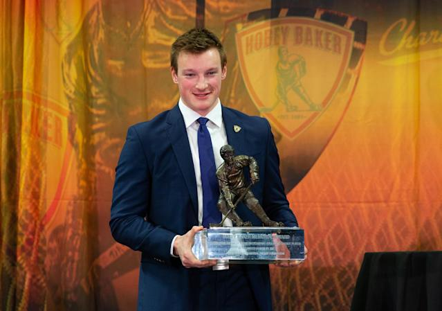 On April 12, 2019, Makar was named the top college hockey player. The Massachusetts sophomore was honored with the Hobey Baker Award.