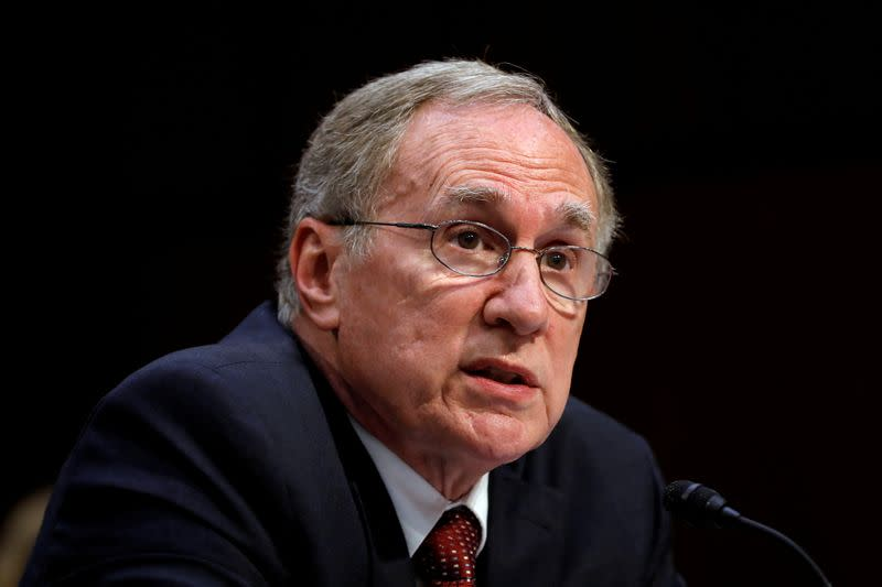FILE PHOTO: Russell Travers testifies before a Senate Homeland Security and Governmental Affairs Committee
