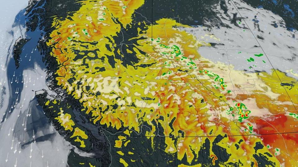 'Detrimental lightning threat' with 190+ active wildfires still impacting B.C.