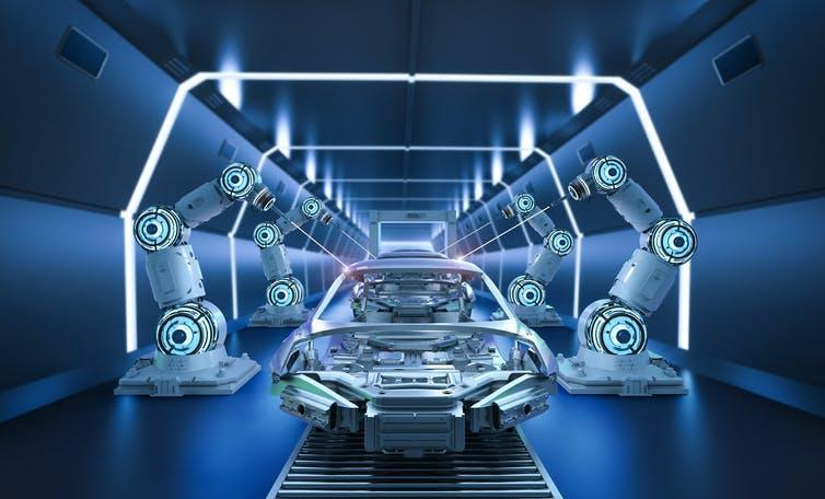 Fully automated futuristic assembly line