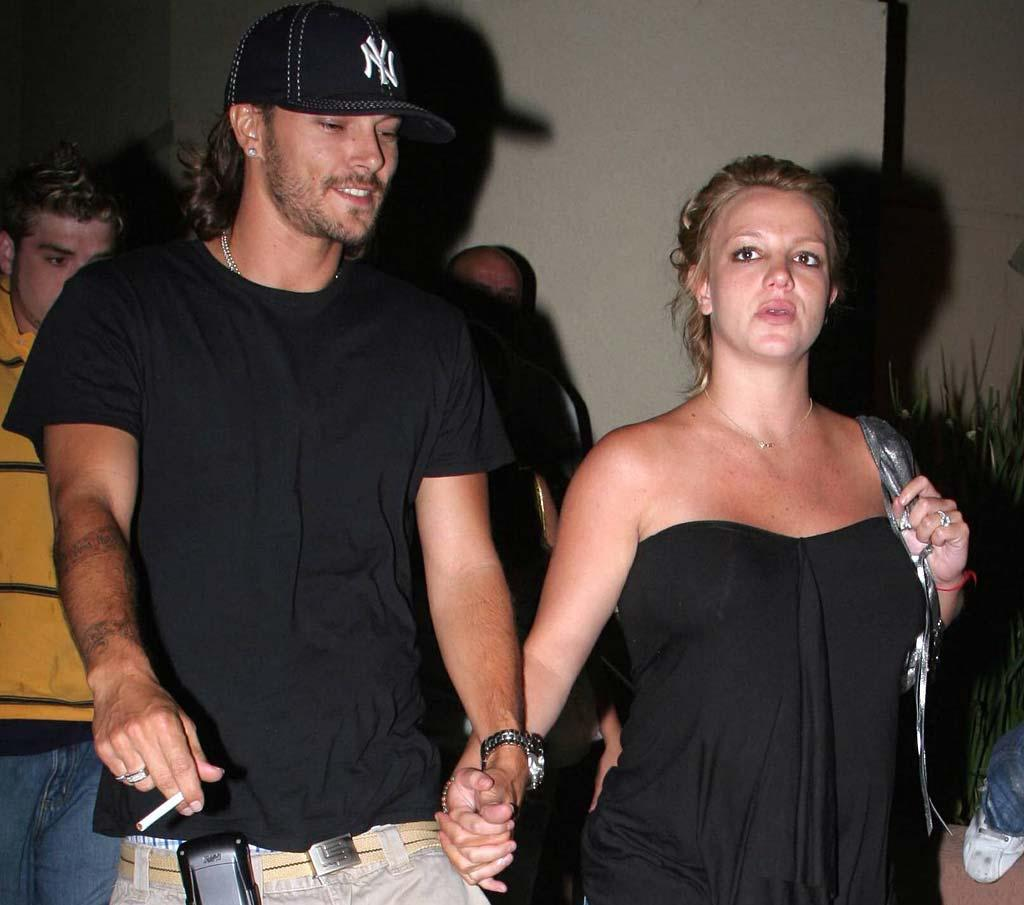 "Britney Spears and Kevin Federline finalized their divorce on Monday. Who would've guessed that K-Fed (shown here smoking next to a pregnant Britney) would end up as the more responsible parent? <a href=""http://www.x17online.com"" target=""new"">X17 Online</a> - July 25, 2005"