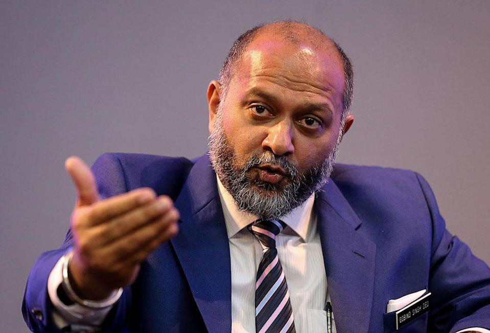 Communications and Multimedia Minister Gobind Singh Deo speaks  in George Town February 18, 2019. — Picture by Sayuti Zainudin