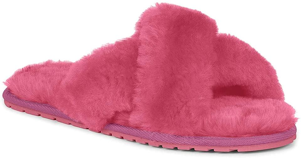 <p>If you love hot pink then no doubt you need the <span>EMU Australia Mayberry Sheepskin Slippers</span> ($60).</p>